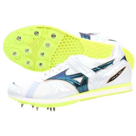 (男女) MIZUNO FIELD GEO AJ 田徑釘鞋-日本製 跳遠 美津濃 螢光黃白 29