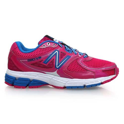 ^(女^) NEWBALANCE 680系列 慢跑鞋~ NB 紐巴倫 桃紅寶藍 23.5