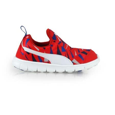 (童) PUMA BAO SLIPON GRAPHIC KIDS男女慢跑鞋-休閒 紅藍白