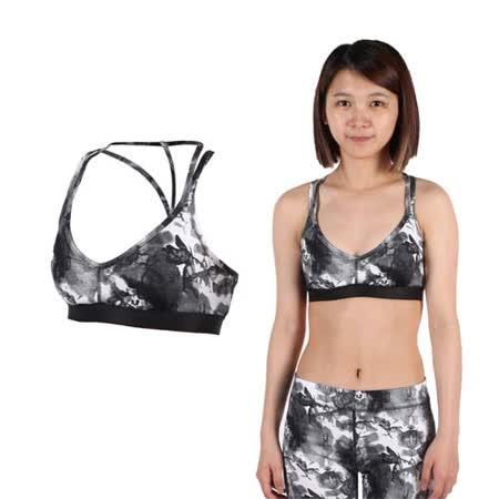 (女) PUMA 訓練系列低衝擊運動內衣-BRA 慢跑 路跑 韻律 有氧 瑜珈 背心 灰白