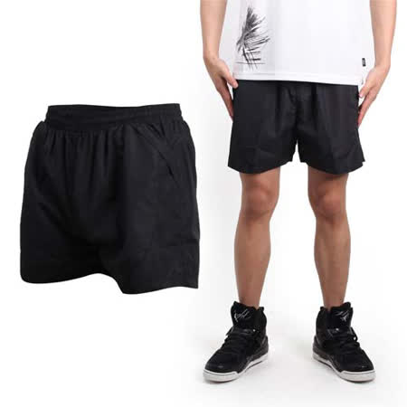 (男) SOFO 運動短褲-慢跑 路跑 休閒短褲 黑