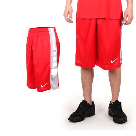 (男) NIKE 運動短褲-針織 籃球短褲 慢跑 路跑 紅白