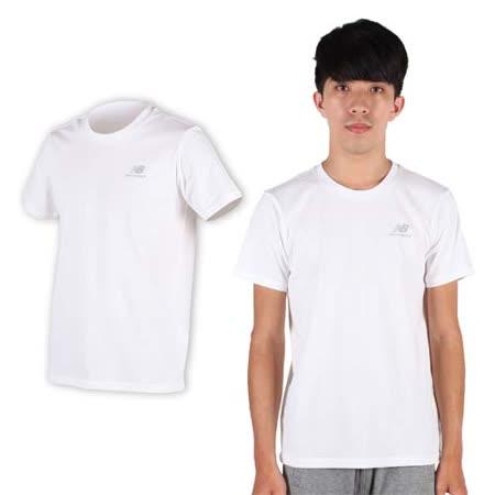 (男) NEWBALANCE NEW BALANCE短袖T恤- 路跑 慢跑 健身 NB 白銀