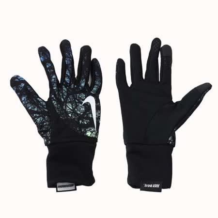 (女) NIKE 用DRI-FIT輕量跑步手套-慢跑 路跑 訓練 黑藍綠 S