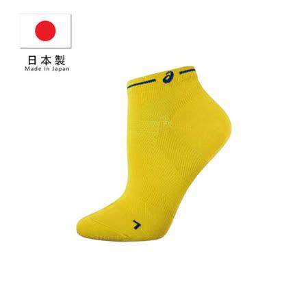 (男) ASICS 日本製長距離跑襪-慢跑 路跑 鐵人三項 襪子 短襪 亞瑟士 黃藍 L