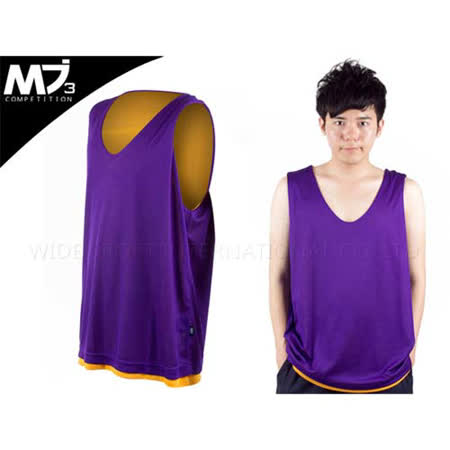 (男) MJ3 雙面穿籃球背心 紫