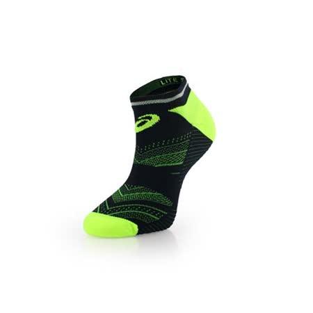 (男) ASICS 反光慢跑襪子-短襪 踝襪 路跑 鐵人三項 亞瑟士 螢光綠藍