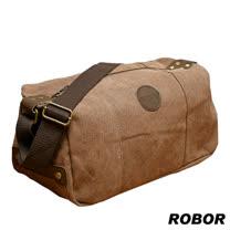 韓系型男 ROBOR摩登風潮長筒型休閒包/側背/斜背包(棕色)