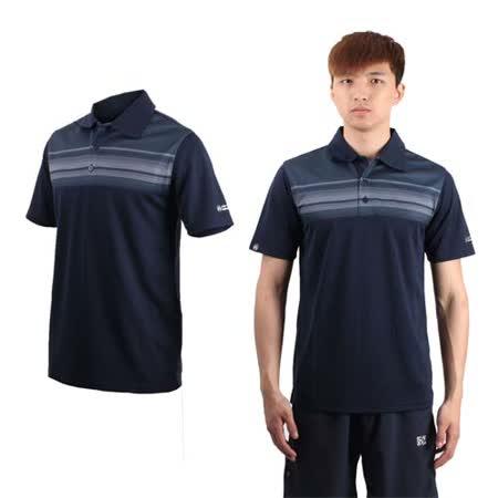 (男) FIRESTAR 短袖POLO衫-休閒T 短袖T恤 立領 台灣製 丈青灰