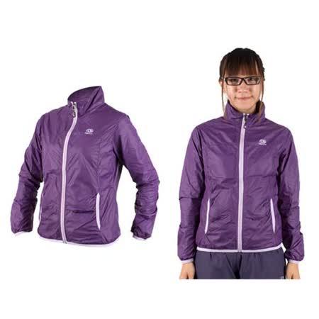 (女) FIRESTAR 防風外套-慢跑 運動外套 立領外套 深紫 L