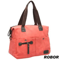 韓系型男 ROBOR法式時尚側背/手提/斜背三用包(紅色)