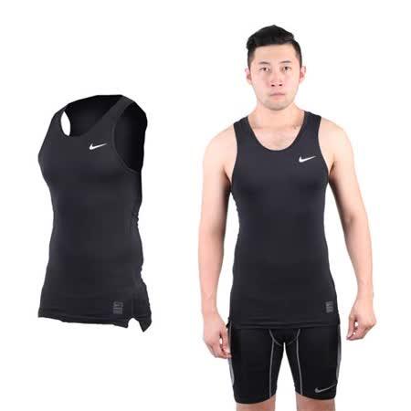(男) NIKE PRO 緊身背心-針織 健身 重量訓練 慢跑 路跑 無袖 黑白 XL