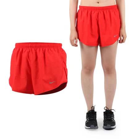 (女) NIKE 運動短褲 -梭織 慢跑 路跑 紅銀