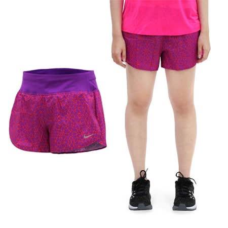 (女) NIKE 運動短褲 -梭織 慢跑 路跑 紫橘