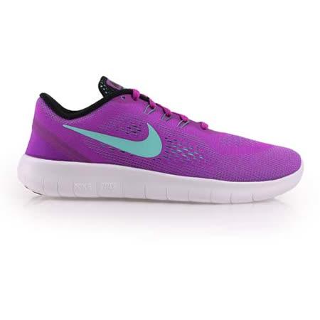 (女) NIKE FREE RN -GS 慢跑鞋 - 路跑 輕跑鞋 紫湖水藍