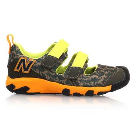 (童) NEWBALANCE 男中休閒鞋- 鞋 NB 軍綠黃橘 20