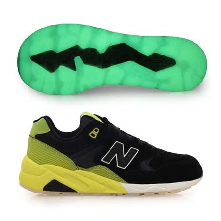 (男) NEWBALANCE 580系列 復古運動鞋- NB N字鞋 黑黃