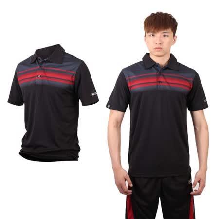 (男) FIRESTAR 短袖POLO衫-休閒T 短袖T恤 立領 台灣製 黑紅