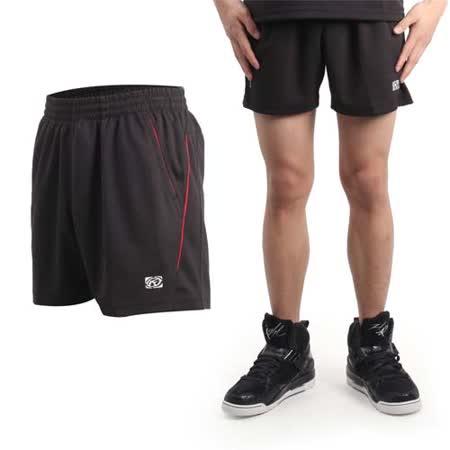 (男) FIRESTAR 休閒短褲-慢跑 路跑 運動褲 台灣製 黑紅
