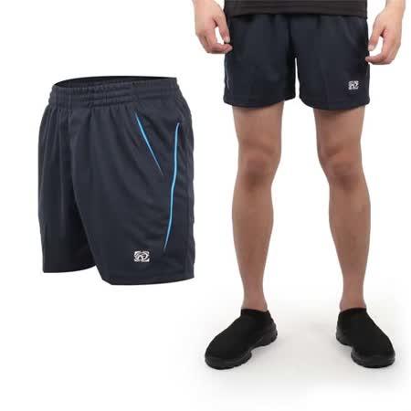 (男) FIRESTAR 休閒短褲-慢跑 路跑 運動褲 台灣製 丈青水藍