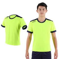 (男) ASICS 運動排汗短袖T恤- 慢跑 路跑 短T 亞瑟士 螢光綠丈青