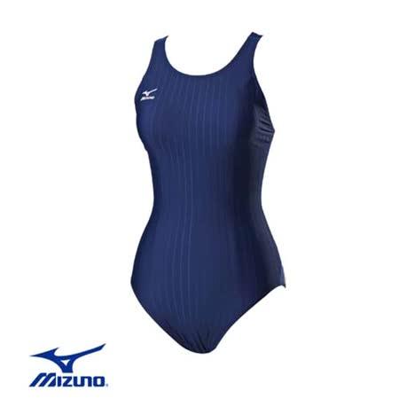 (女) MIZUNO SWIM FITNESS 泳衣 - 游泳 競賽 美津濃 丈青藍
