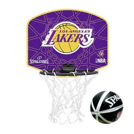 SPALDING 洛杉磯湖人隊小籃板-LOS ANGELES LAKERS籃球 紫黃 F