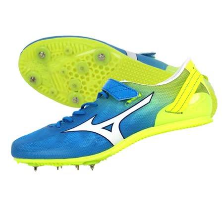 (男女) MIZUNO GEO STREAK 田徑釘鞋- 短距離 跨欄 美津濃 水藍螢光黃