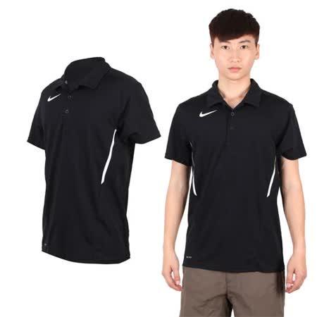 (男) NIKE 短袖POLO衫-休閒T 短袖T恤 立領 黑白