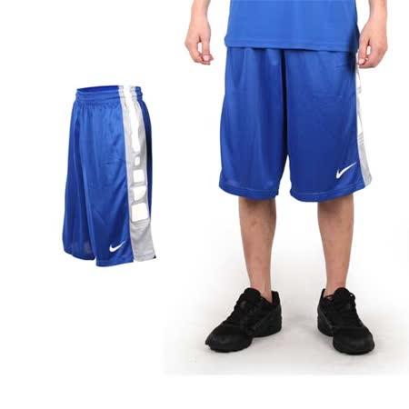 (男) NIKE 運動短褲-針織 籃球短褲 慢跑 路跑 寶藍白