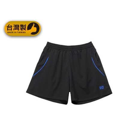 (男) FIRESTAR 運動短褲-台灣製 慢跑 路跑 運動短褲 黑寶藍