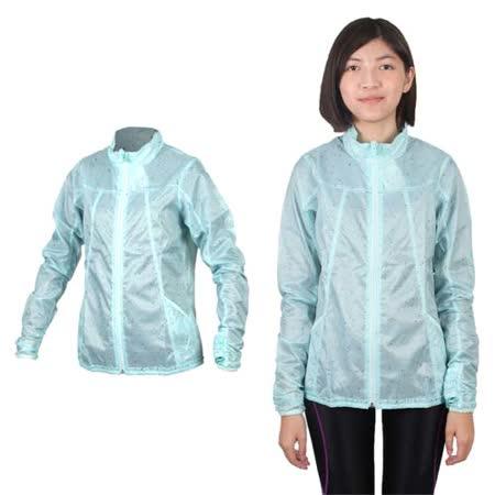 (女) MIZUNO 風衣外套- 路跑 慢跑 運動外套 美津濃 淺綠