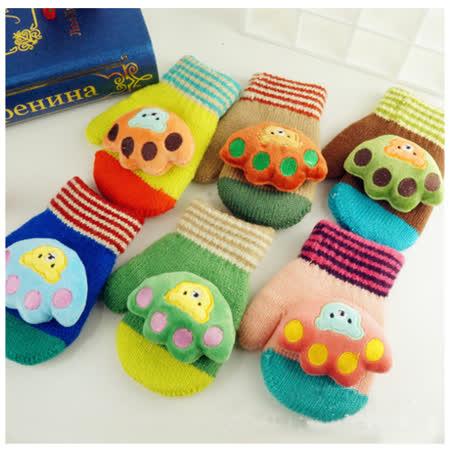 韓版可愛保暖熊掌造型手套