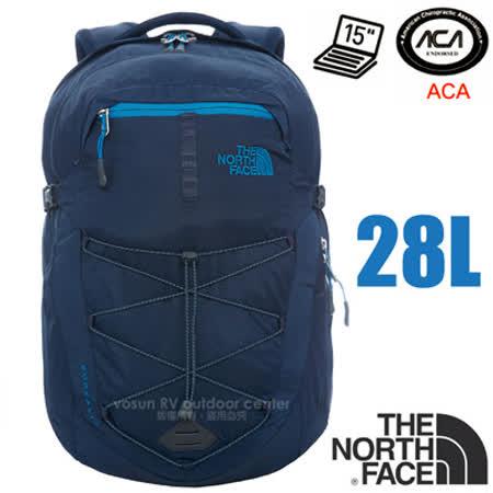 【美國 The North Face】新款 BOREALIS 輕量抗撕裂多功能後背包28L(日用電腦書包_可容15吋筆電_美國脊椎協會認證)/CHK4 都會藍/班夫藍