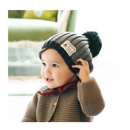 韓版帥氣男童針織保暖毛帽