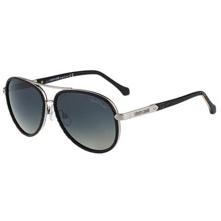 Roberto Cavalli 雷朋型太陽眼鏡(蛇皮黑)