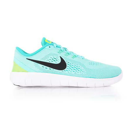 (女) NIKE FREE RN -GS 慢跑鞋 - 路跑 輕跑鞋 湖水綠白