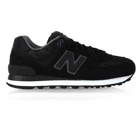 (女) NEWBALANCE 574系列 復古休閒鞋 - NB N字鞋 奢華黑