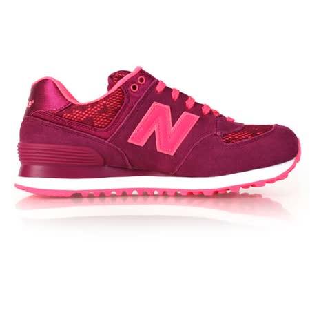 (女) NEWBALANCE 574系列 復古休閒鞋 - NB N字鞋 珊瑚紅