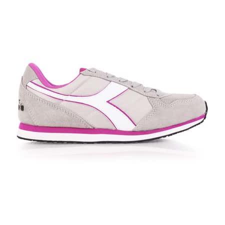 (女) DIADORA ORIGINAL K_RUN進口復古休閒鞋 灰紫