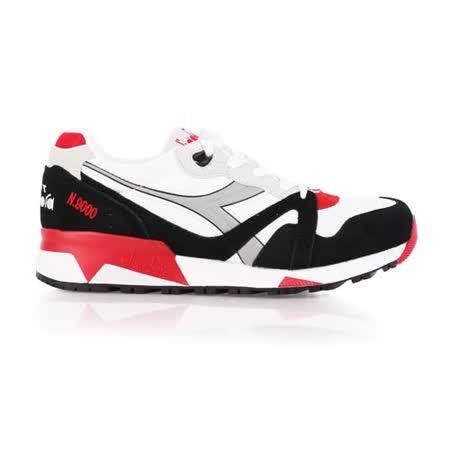 (男) DIADORA ORIGINAL N9000 NYL進口復古休閒鞋 白黑紅