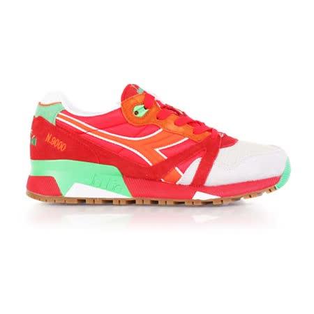 (女) DIADORA ORIGINAL N9000 NYL進口復古休閒鞋 紅