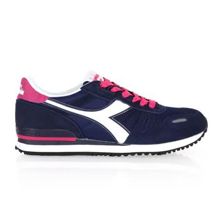 (女) DIADORA ORIGINAL TITAN II W進口復古休閒鞋 藍桃紅