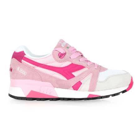 (女) DIADORA ORIGINAL N9000 NYL進口復古休閒鞋 白粉紅