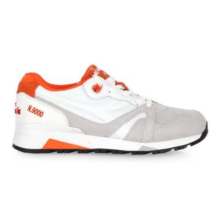 (男) DIADORA ORIGINAL N9000 DOUBLE L 進口復古休閒鞋 白紅