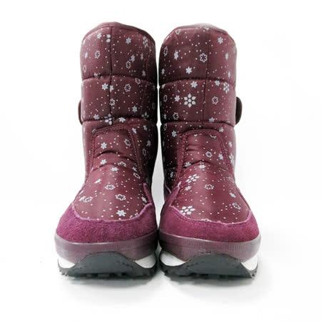 法國pierre cardin[20385-2]北歐風保暖機能雪靴-紫