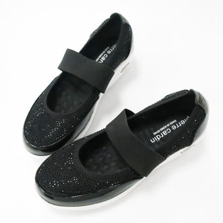 法國pierre cardin[20417-9]奢華滿鑽釋壓娃娃鞋-黑