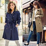 日本Portcros 預購-經典繫帶雙排釦素面風衣(M-3L共四色)