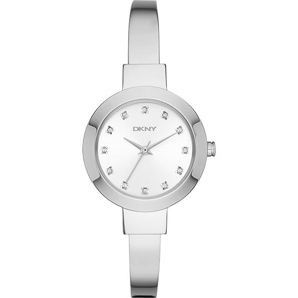 DKNY Ladies 紐約名媛晶鑽手鐲錶~銀28mm NY2436