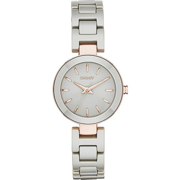 DKNY Stanhope 陶瓷佳人 腕錶~灰x玫瑰金28mm NY2356